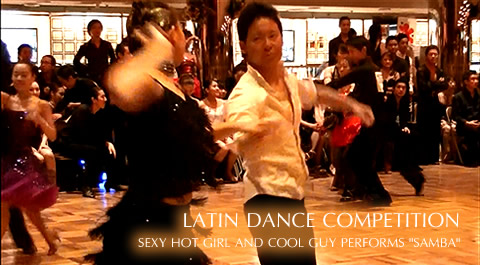 Latin Dance Battle - Sexy hot girl and cool guy performs Rumba in mood